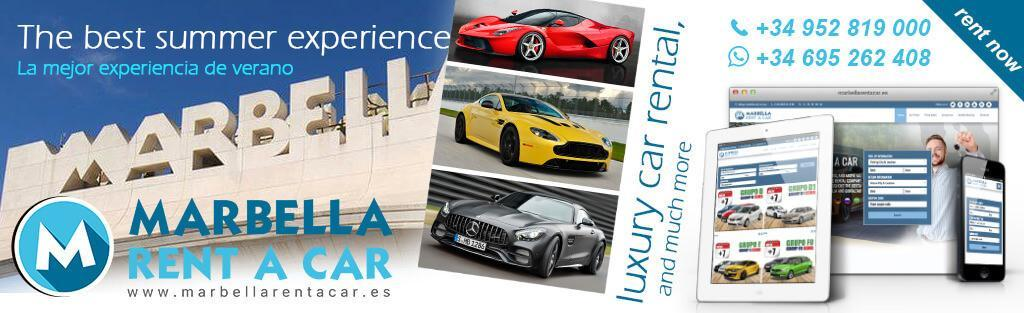 luxury rent a car marbella